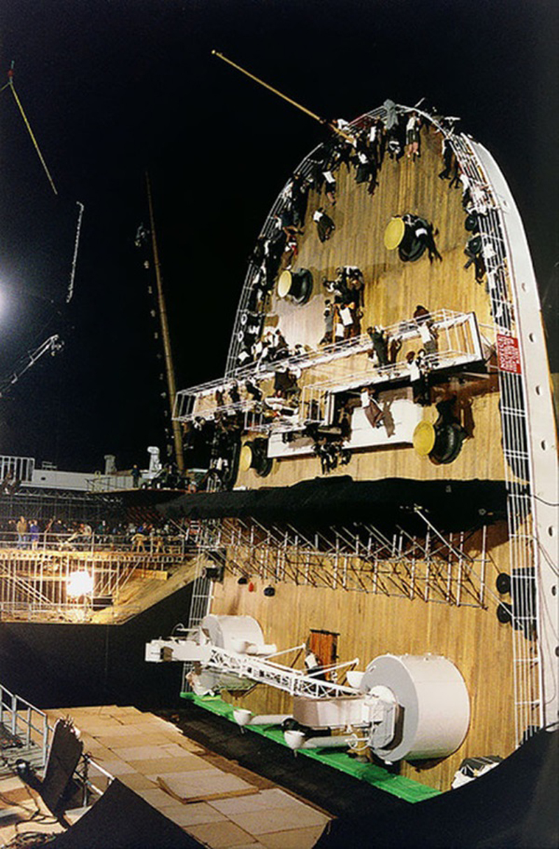 Photo de tournage du film Titanic
