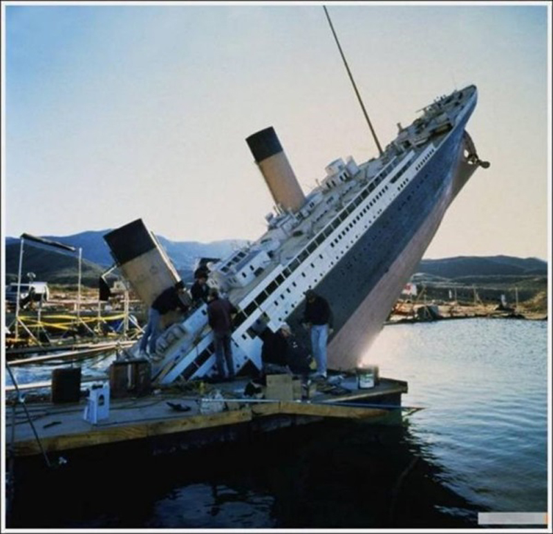 Photo de tournage du film Titanic