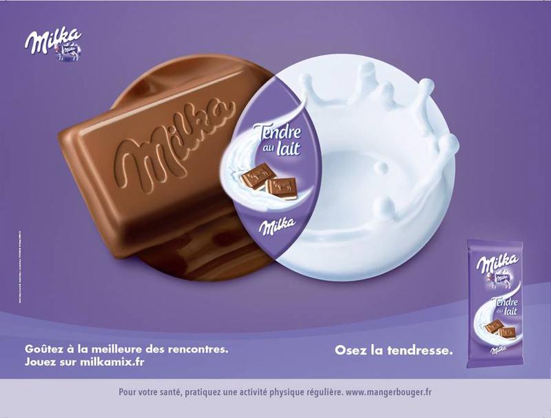 Campagne publicitaire Milka Mix