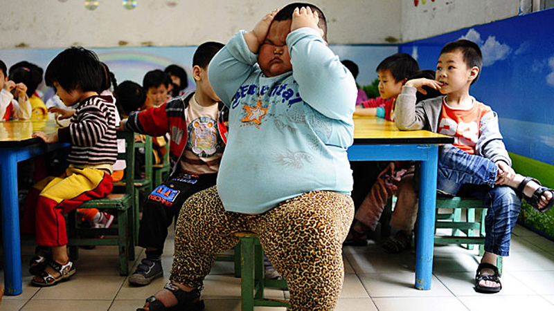 Lu Hao enfant Chinois pèse 60 kilos