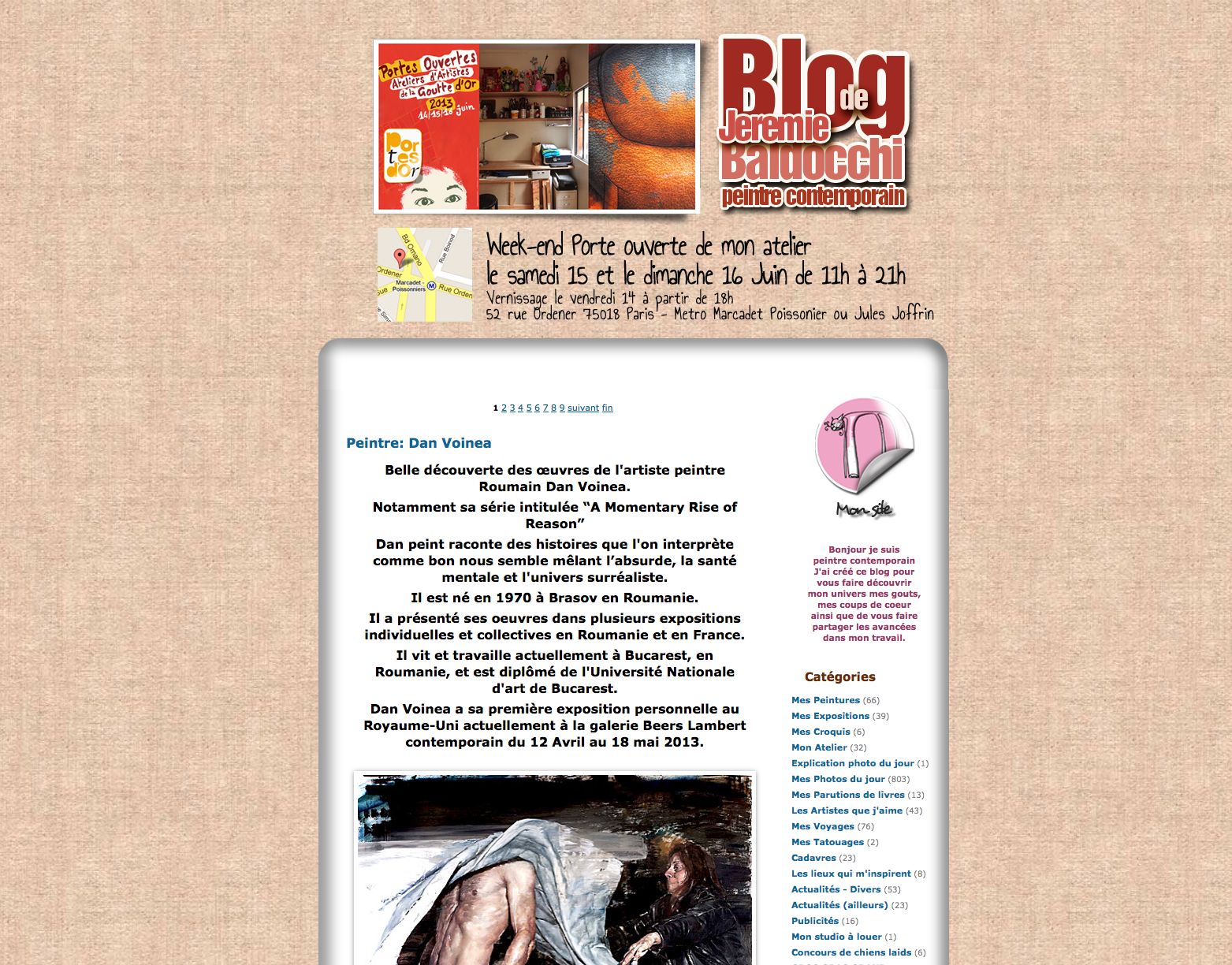 visuel précédente version de mon blog