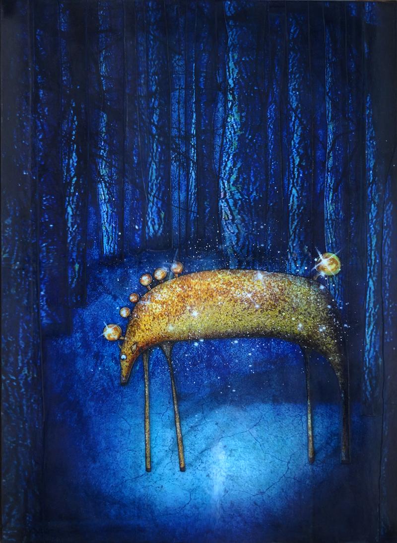 peinture cheval de nuit du blog de jeremie baldocchi artiste peintre contemporain fran ais. Black Bedroom Furniture Sets. Home Design Ideas