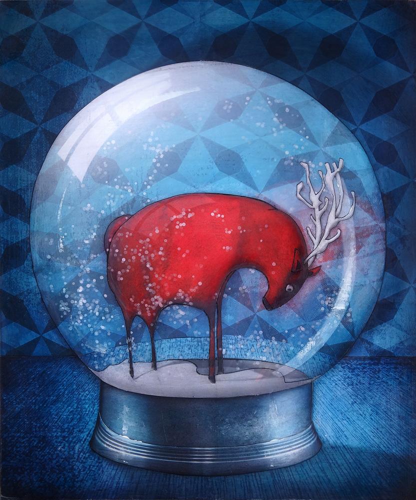 Peinture Boule de neige