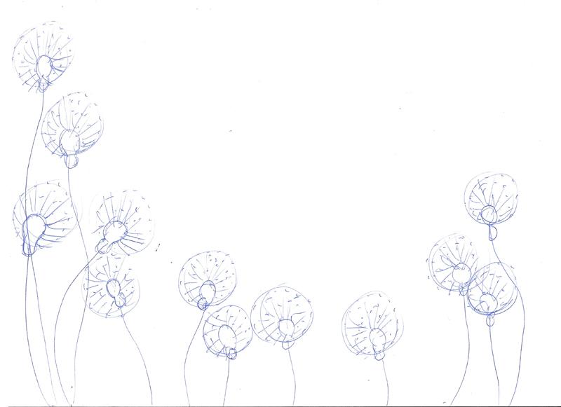Croquis pour la peinture La reine du Pollen
