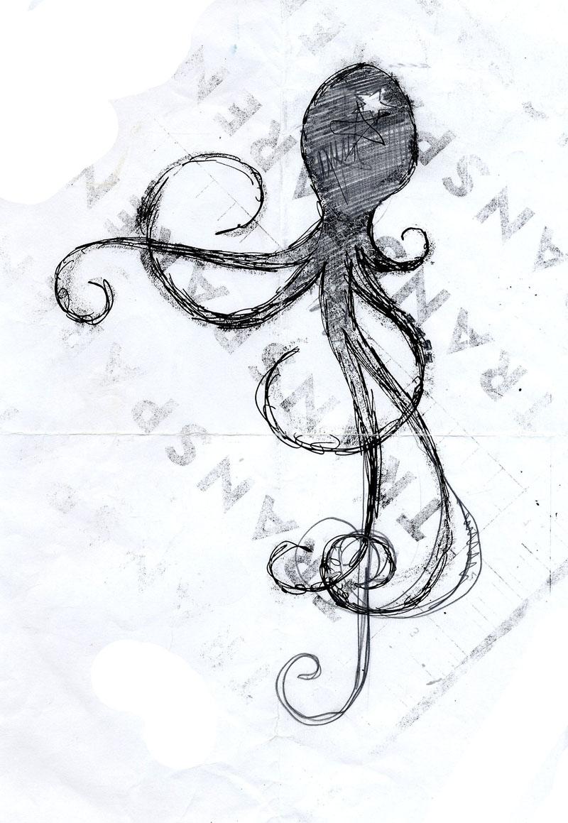 Premier tatouage du peintre contemporain Jérémie Baldocchi