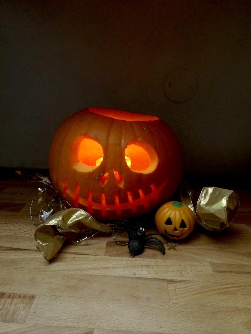 Décoration d'Halloween dans mon atelier