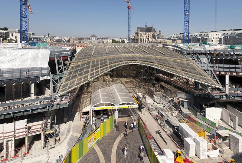 Photos officielles du chantier des Halles