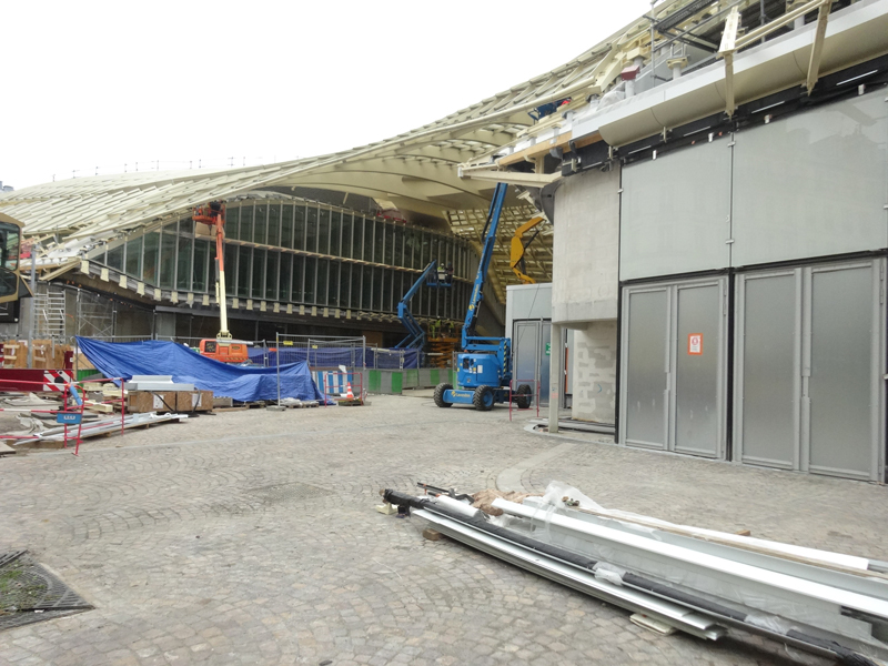 Construction des Halles en décembre 2015