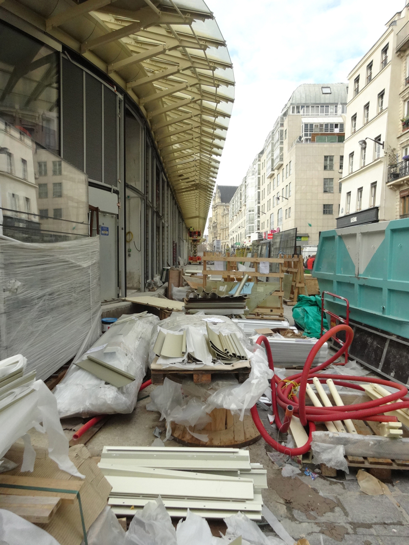 Chantier de construction du Forum des Halles de Paris Janvier 2016