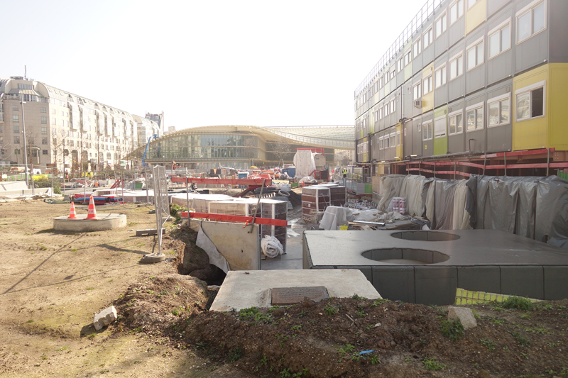Le chantier du Forum des Halles Avril 2016