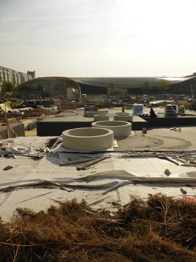 Le chantier des jardins du Forum des Halles de Paris