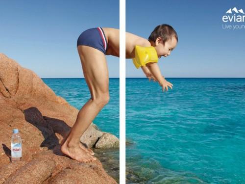 Publicité Evian – Live Young