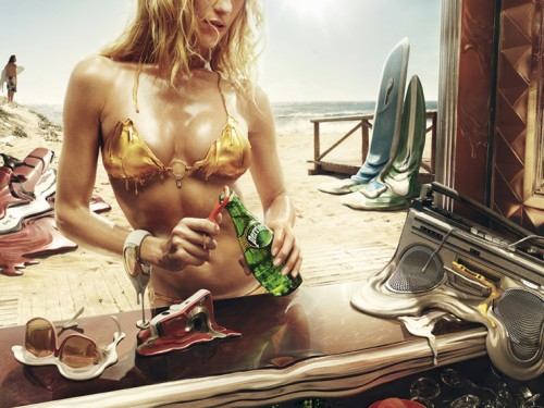 Campagne publicitaire Perrier Melting