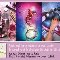 Portes Ouvertes de mon atelier les 9 et 10 Juin