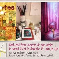 Portes Ouvertes de mon atelier les 13 et 14 Juin