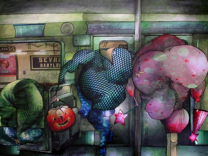 Peinture: Aller à une fête déguisée
