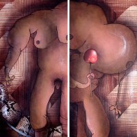Peinture: Adam et Eve