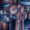 Peinture: 3 heures du mat, un verre de lait frais