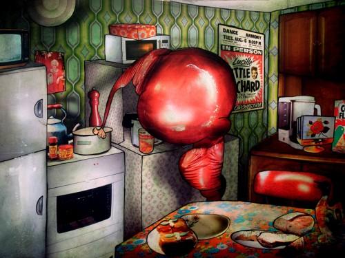 Peinture: Vinyl dans la cuisine