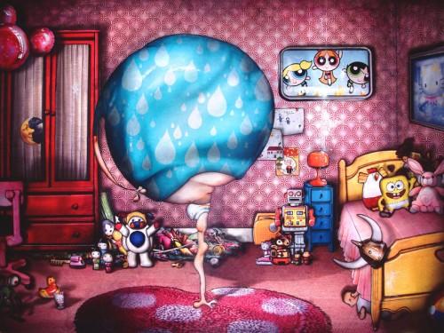 Peinture: Mercredi, le jour des enfants