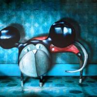 Peinture: Chat déguisé