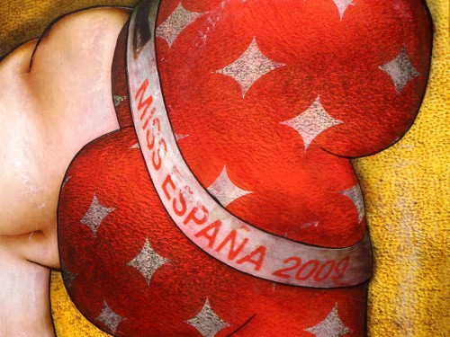 Peinture: Miss Espagne 2009