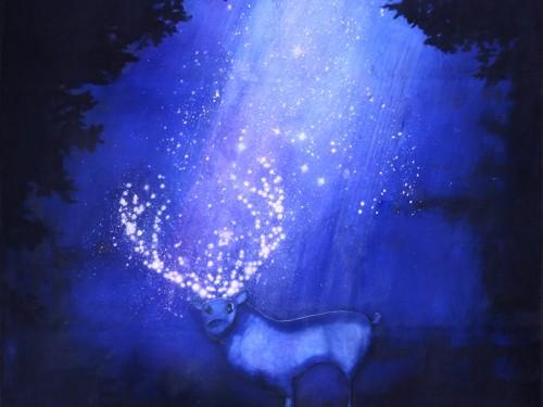Peinture: Cerf de nuit