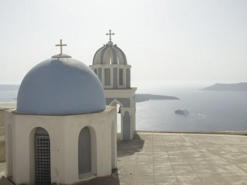 Mon voyage en Grèce – île de Santorin, Firostephanie et Fira