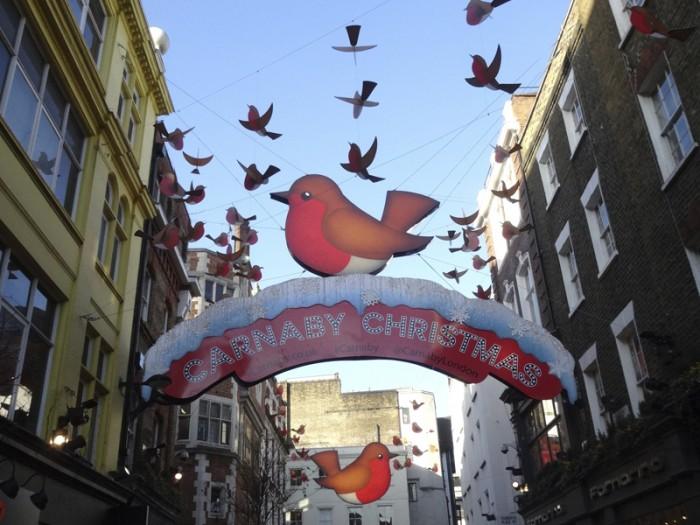 Mon voyage à Londres: Décorations de Noël