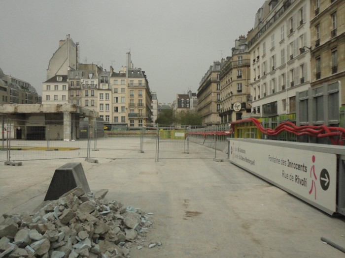 Démolition des Halles… Ça y est c'est finit!