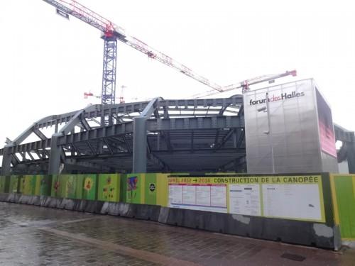 Forum des Halles: Le chantier en Fevrier 2013
