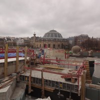 Construction des Halles: Avril 2013