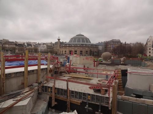 Construction des Halles: Avril 2013