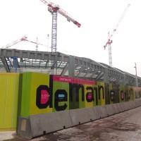 Construction des Halles: Juillet 2013