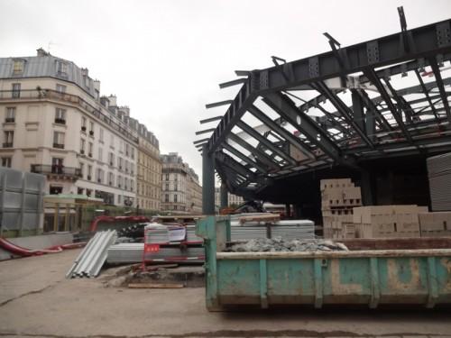 Construction des Halles: Novembre 2013