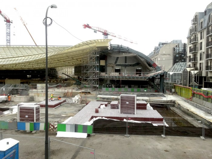 Travaux aux Forum des Halles: Septembre 2014