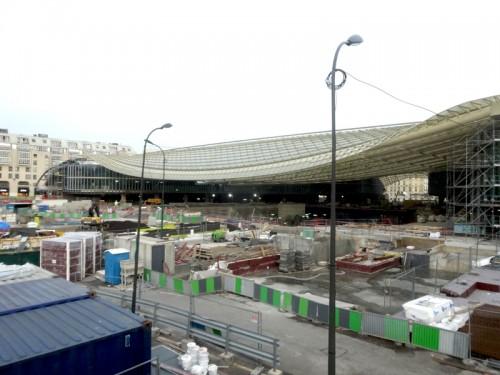 Construction des Halles: Decembre 2014