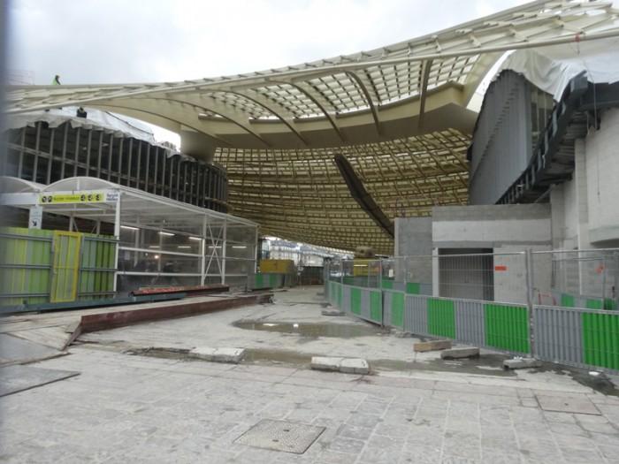 Travaux aux Forum des Halles: Fevrier 2015