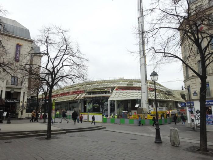Construction des Halles: Décembre 2015