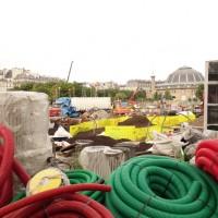 Travaux aux Forum des Halles: Juillet 2017