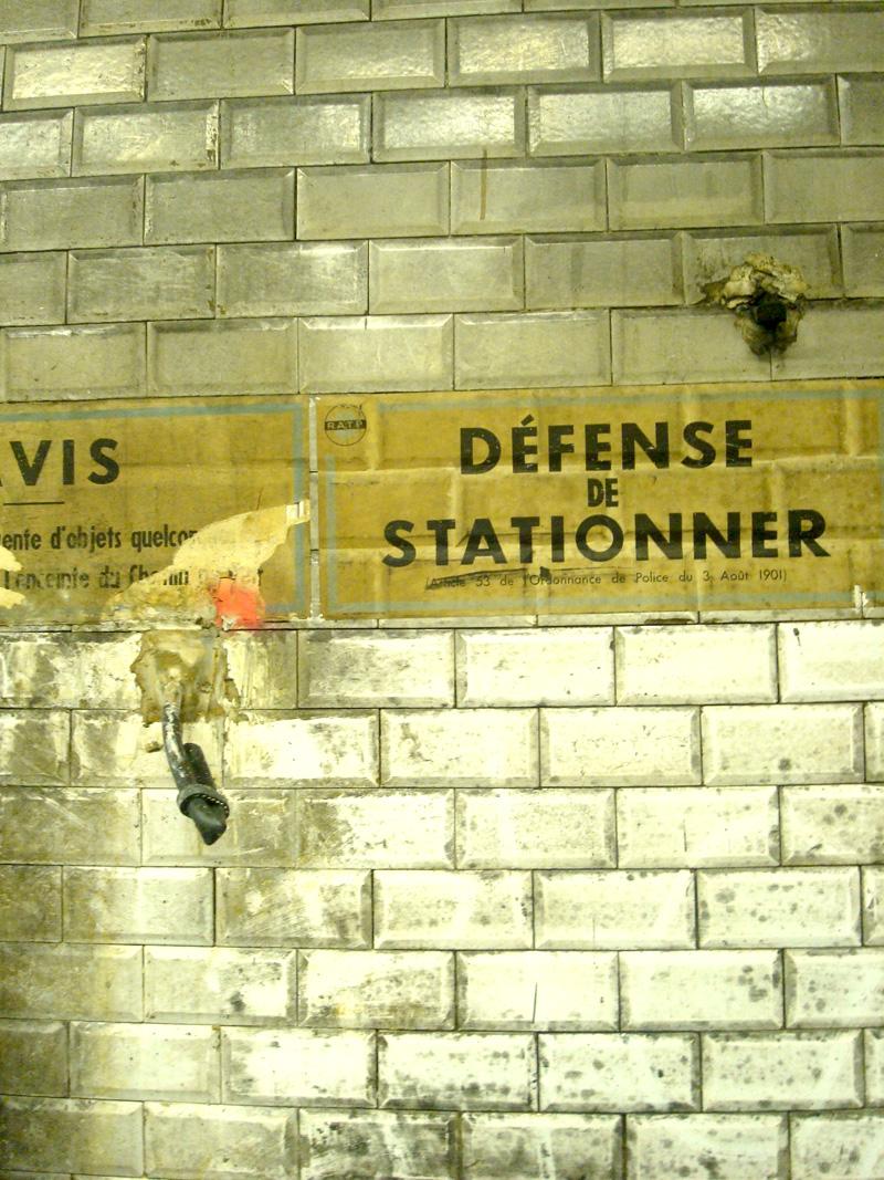 Station de métro en travaux
