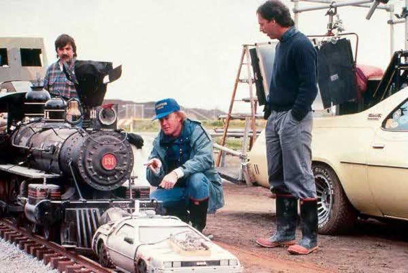Photo de tournage du film Retour vers le futur