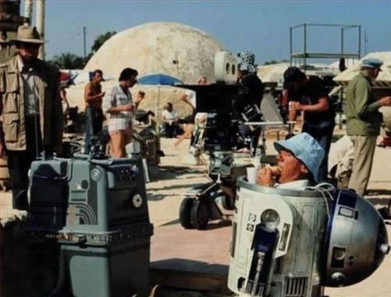 Photo de tournage du film Star Wars