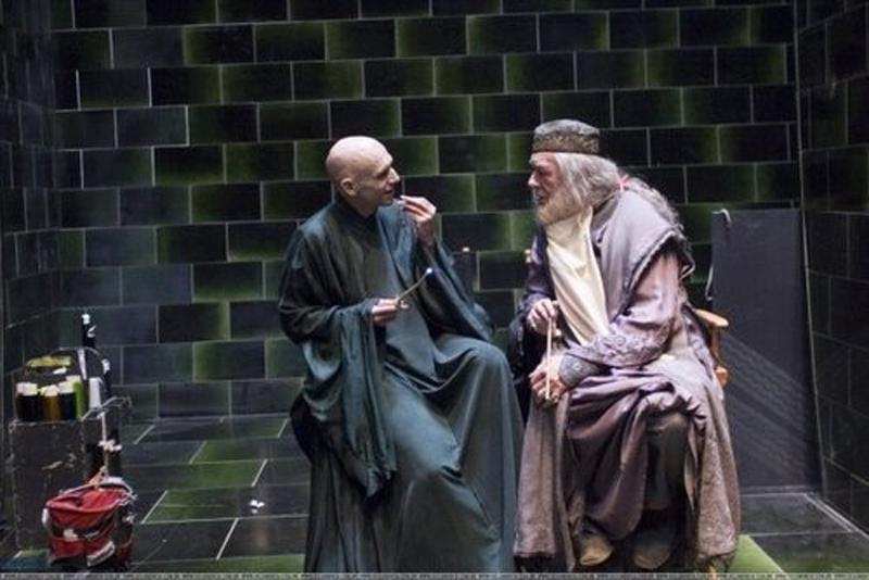 Photo de tournage du film Harry Potter