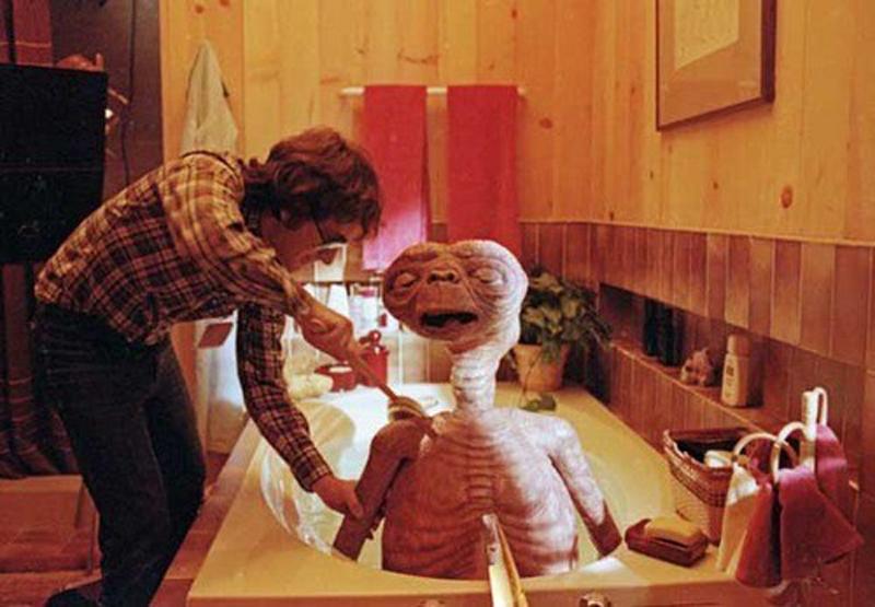 Photo de tournage du film ET l'Extraterrestre