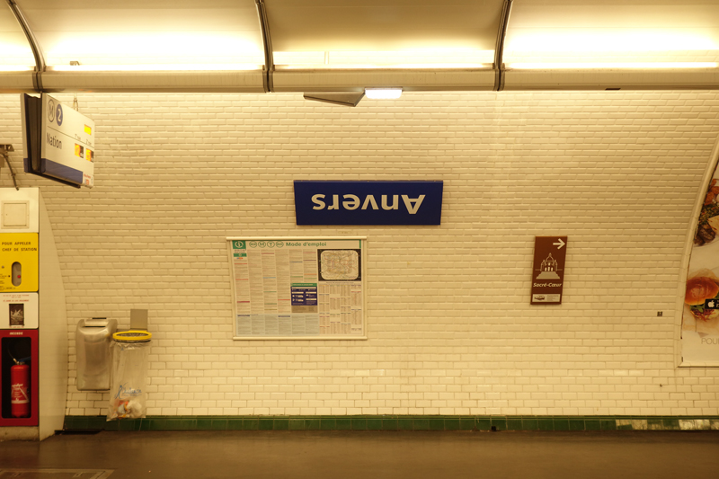 La RATP a écrit à l'envers le nom de la station de métro Anvers à Paris