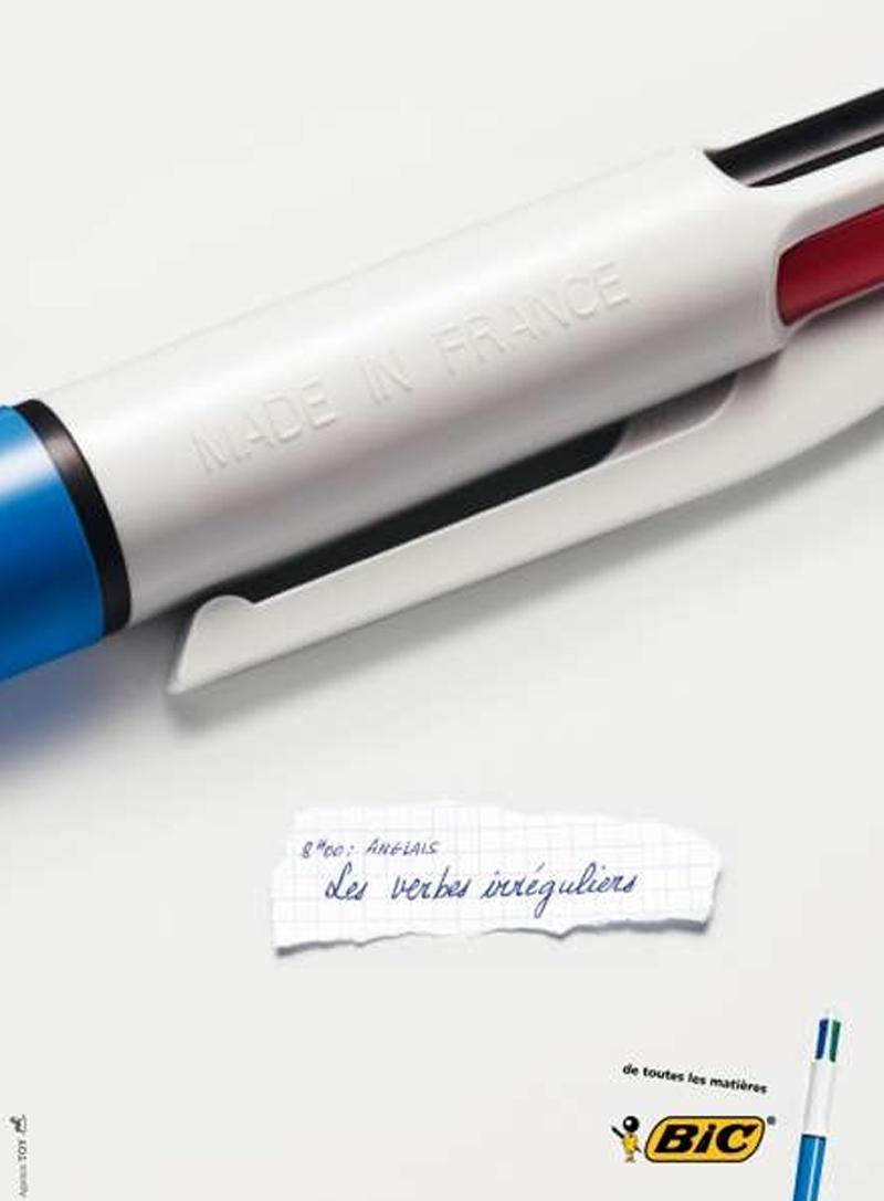 Campagne publicitaire Stylo Bic