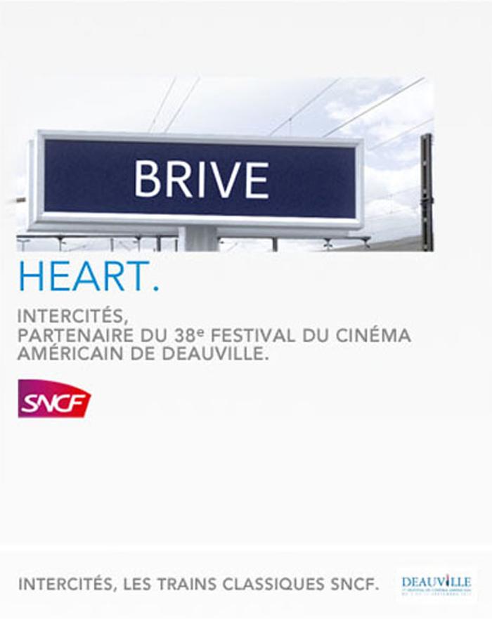 Publicité SNCF et le Festival du cinéma Américain de Deauville