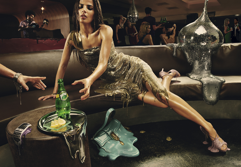 Campagne publicitaire Perrier Melting agence Ogilvy & Mather