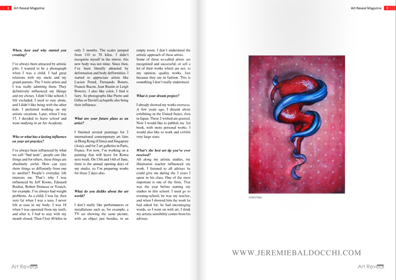 Magazine art contemporain Art Reveal page 7 et 8